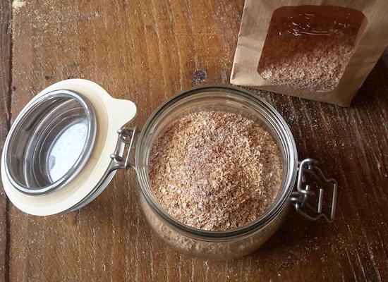 crusca di grano tenero antico TVTB, macianta a pietra