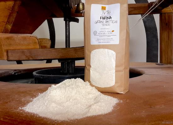 Farina di grano tenero TVTB macinata a pietra su mulino